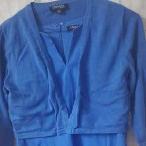 Sateen Cotton Summer Dress w/ matching shrug
